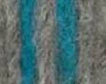Gray wool with a touch of Turquoise, Saetta from Adriafil