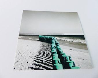 card square Beach sea green