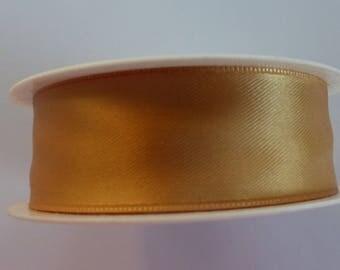 3 meters of 25 mm mm very light brown satin ribbon