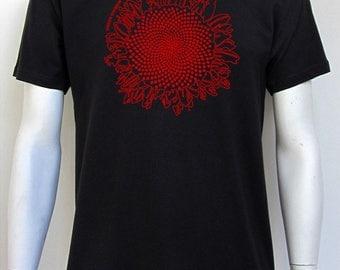 T-shirt men green division, sunflower, black, 100% cotton, 145 gsm, classic cut.