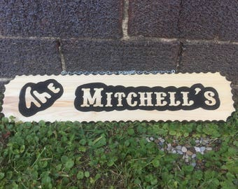 Custom carved sign