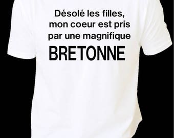 T-shirt men MESSAGE love Bretagne