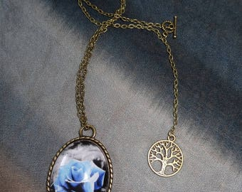 """Blue Rose"" necklace and the tree of life"