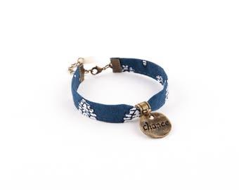 Blue & white brass CHABENCO bracelet