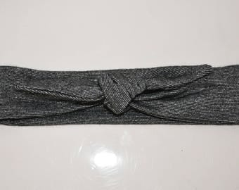 Lurex and gray baby headband size 0/3 months