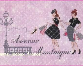 "Embroidery cross stitch ""Avenue Montaigne"" - v pattern"