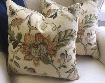 Decorative Pillow Made of P. Kaufmann Fabric