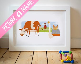 Emily Name Art, nursery wall art, baby name art