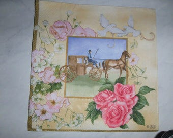 "Pretty NAPKIN pattern ""Carriage"""