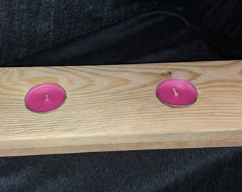 Pallet wood table candle holder