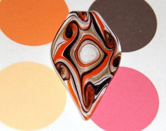 Murano glass leaf pendant