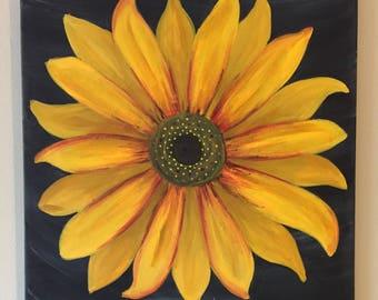 Modern/bohemian Sunflower painting