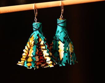 Earrings tassel - Makoko