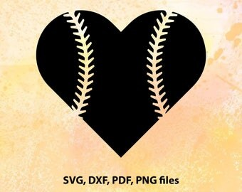 Baseball Heart SVG Baseball Mom SVG Baseball Mom Shirts Baseball SVG Cricut Files Silhouette Files Digital Cut Files svg cut files