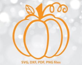 Pumpkin Cut File, Halloween cut file, Pumpkin SVG, Pumpkin dxf, Silhouette Cut File, Cricut Cut Files, Pumpkin Clipart, Pumpkin design files