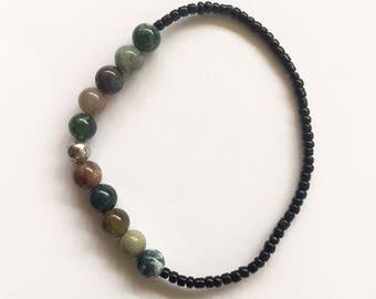 Beaded Stone Bracelet