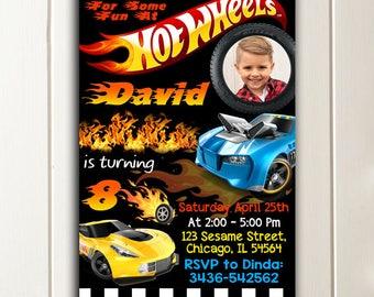 Hot Wheels Invitation, Hot Wheels birthday invitation, Hot Wheels invite,Hot Wheels, Hot Wheels Chalkboard,Hot Wheels Printable, Cars invite
