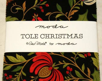 "Patchwork charm pack by moda - ""Tole Christmas""."
