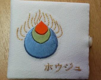 Embroidered silk pattern Houju needle