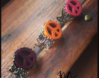 """Bronze ring """"Dragon"""" orange"""