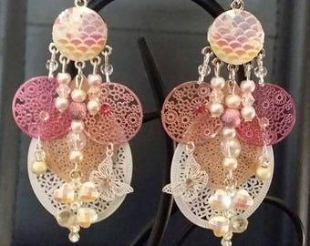 """Earrings """"Crystal"""" 8cm"""