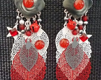 """Earrings """"Passion"""" 8cm"""