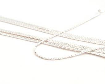 1 m of fine mesh snake silver chain in copper 1.3 mm