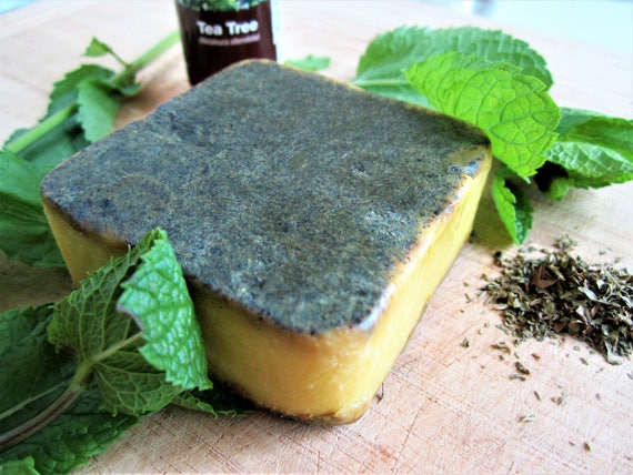 Mint and Tea Tree Natural Homemade Bar Soap by Shawn's Soaps