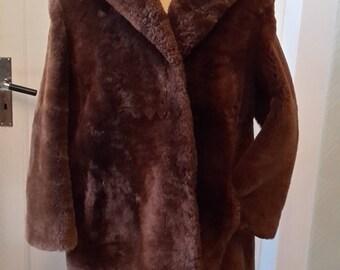 Original 40s fur/fur coat large size