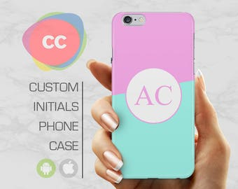 Custom Pink Blue Case For iPhone / iPhone 7 Case / Samsung Galaxy S8 Case / iPhone 6s Case / iPhone 6, 5, 5S Case - PC-218