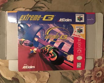 Nintendo 64 Official Game Secrets Guide EXTREME-G & N64 Box *See Pics*