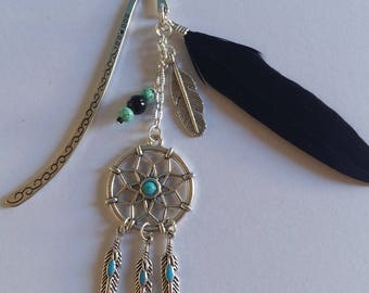 dream catcher bookmark with his black feather