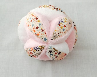 Baby Pink and white multi-texture gripping ball liberty adelajda