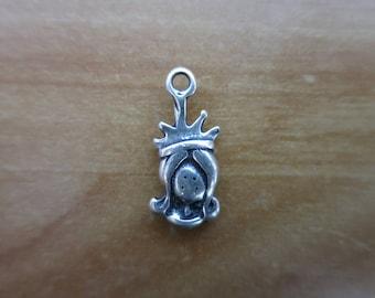 Silver Princess charm 2 cm