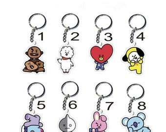 Kpop BTS BT21 Keychains