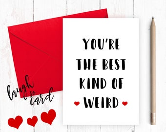 Funny anniversary card, Funny Birthday Card,  Boyfriend Card, Boyfriend Anniversary, funny card, funny rude card, Husband, for him, weird