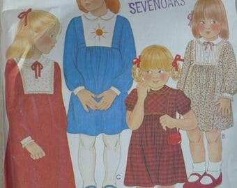 Girl's Dress Pattern - Vintage McCalls 6780 - Size 5