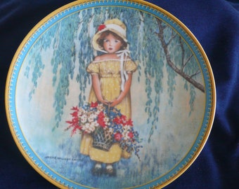"Vintage Bradford Exchange Collectible Plate (circa 1986) - ""Easter"" - Jessie Willcox Smith"