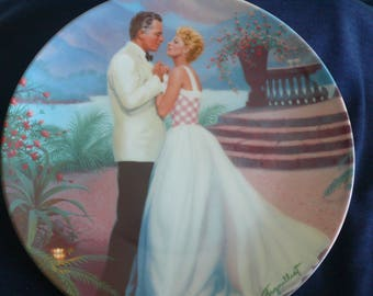 "Vintage Bradford Exchange Collectible Plate (circa 1987) - ""Some Enchanted Evening"" - Elaine Gignilliat, Rodgers and Hammerstein"