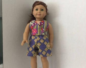 """Shorts and top for American Girl or similar 18"""" dolls"""