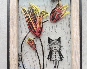 """Frame stained glass - """"Sully"""" (2)-13 * 18 cm"""