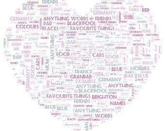 Personalised word art