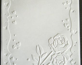 SCRAPBOOKING card pink embossed love color choice