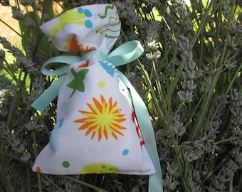 bag filled with Lavender sachet for child with sea and fish