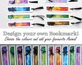 Personalise Your Own Watercolour Bookmark! – Made to Order, Watercolor Painting, Animals, Original Artwork, Handmade.
