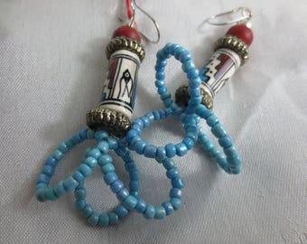Earrings Indian style.
