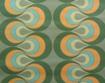 Vintage Wallpaper Green Blobs per meter