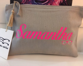 Women Fashion Clutch Clutch clutch Clutch clutch bag Personalized with name ' ideal gift for friend '
