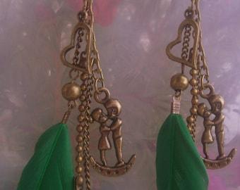 Country earrings... LOVERS *.