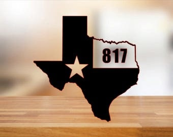 State decal with area code